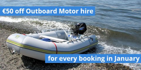 Book with us in January and get €50 off your outboard motor!