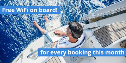 Free WiFi on board if you book this month!