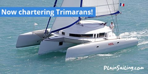 Sail something new: Now chartering trimarans!