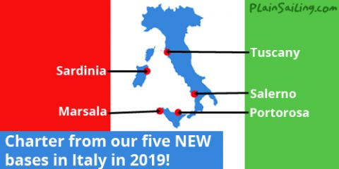 PlainSailing.com launches in 5 bases in Italy!