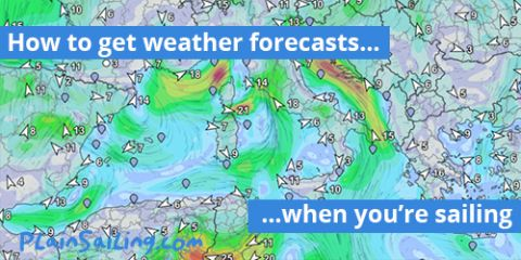 How to get weather forecasts when you're sailing
