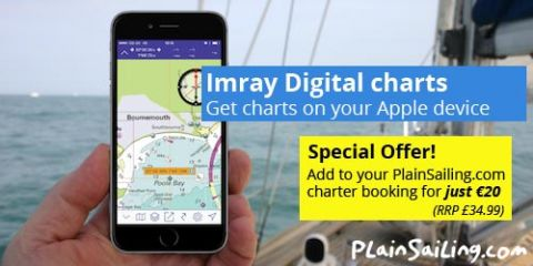 Half-price Imray digital charts of the Med!