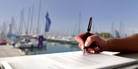 Completing check-in and check-out for your boat