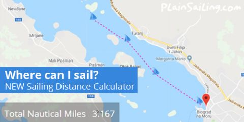 Try our NEW Sailing distance calculator!