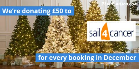 We're donating to Sail4Cancer with every booking this month!