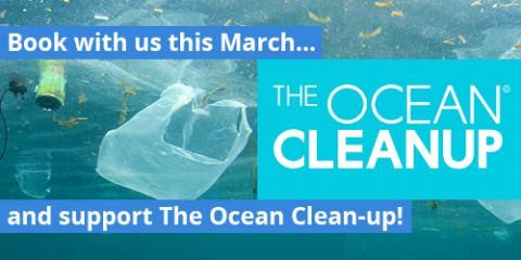 Book with us in March and we'll donate to The Ocean Cleanup!