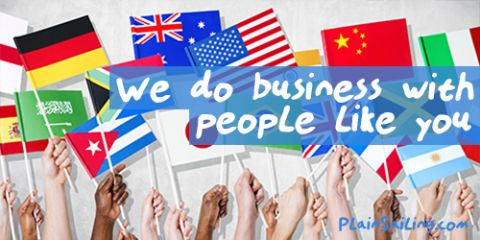 We do business with people like you!