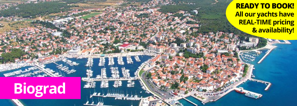 Biograd from the air for PlainSailing.com yacht and catamaran charter