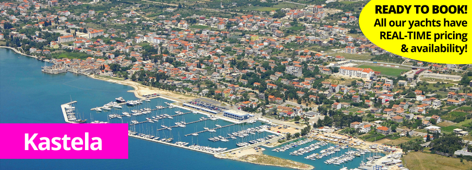 Kastela from the air for PlainSailing.com yacht and catamaran charter