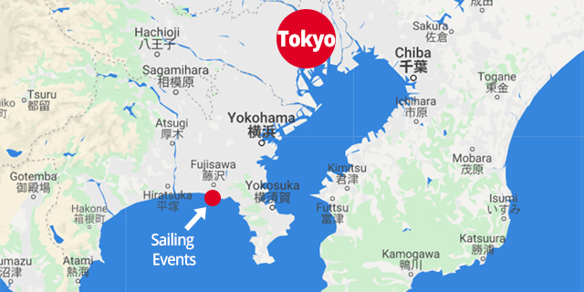 Sailing events map