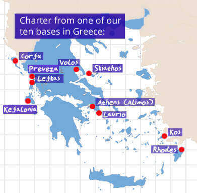 Our 8 Yacht Charter Bases in Greece