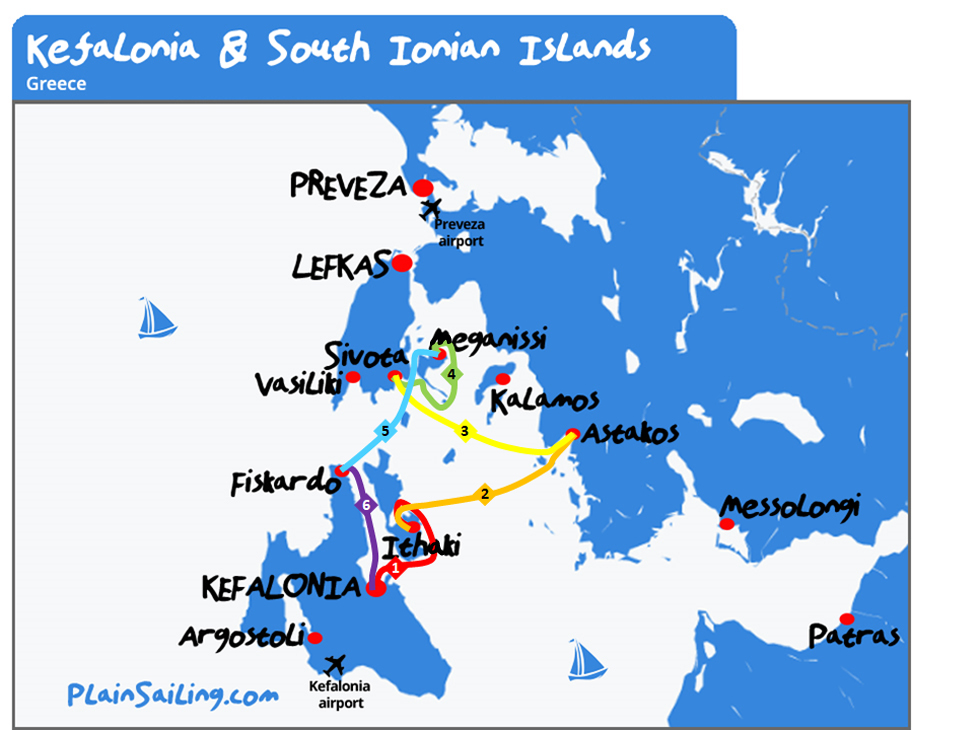 Kefalonia - 6 day sailing itinerary