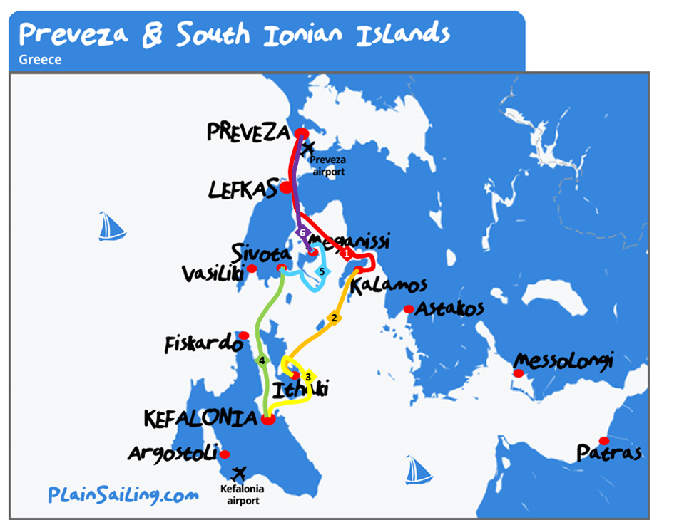 Preveza - 6 day sailing itinerary