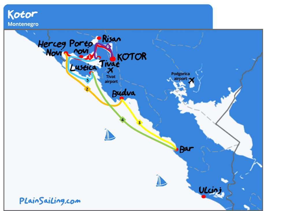 Split - 6 day sailing itinerary