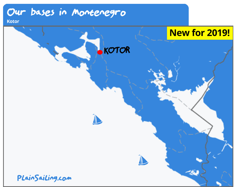 Our Yacht Charter bases in Montenegro - Kotor.