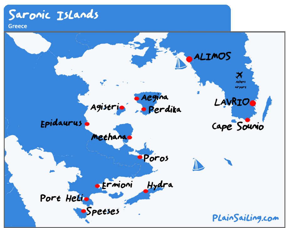 Map of the Saronic Islands