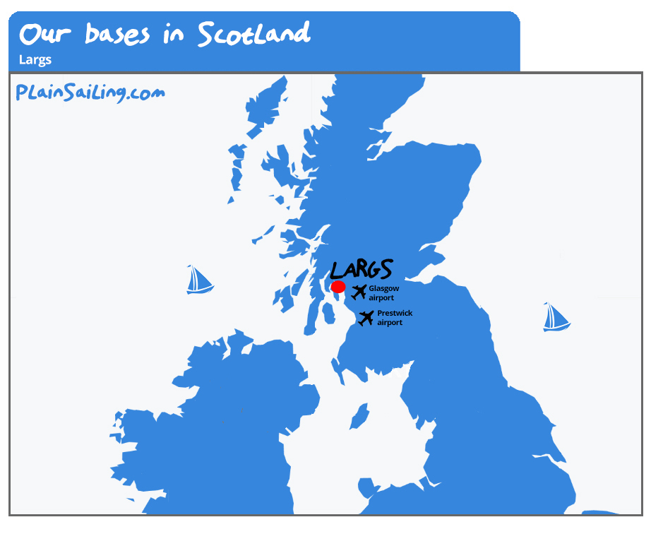 Our Yacht Charter base in Scotland