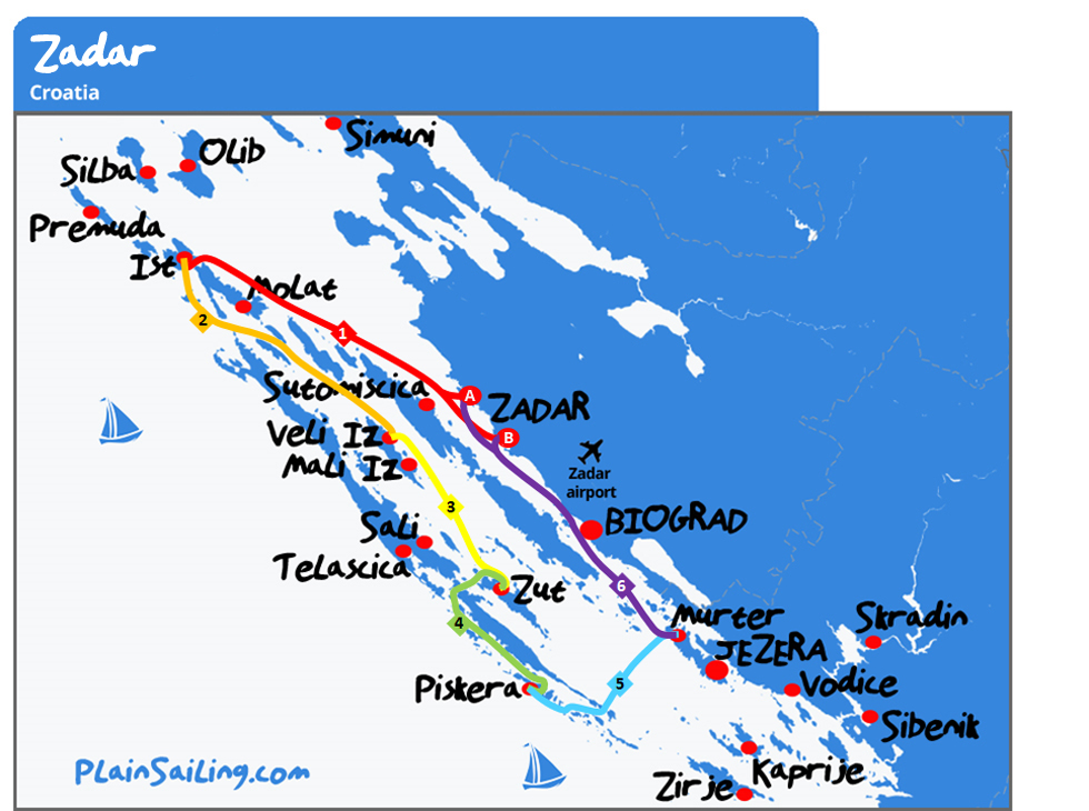 Zadar - 6 day sailing itinerary